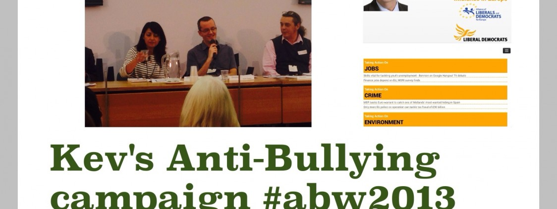 My anti bullying campaign in anti bullying week