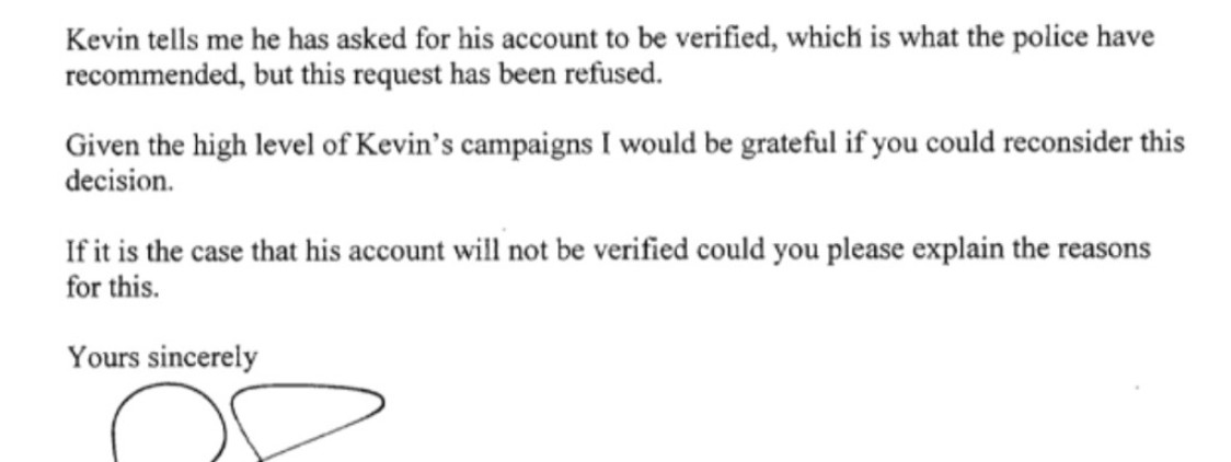 My MP writes too Twitter to ask them verify my account