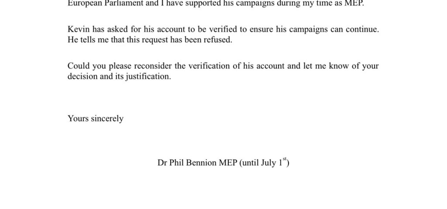 MEP writes too twitter
